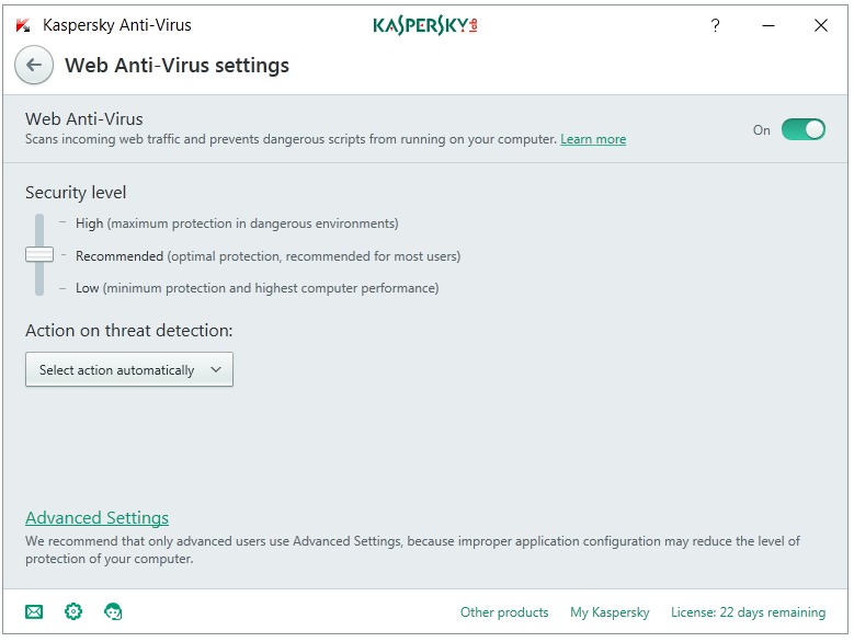 web-antivirus-settings