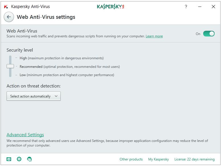 web-antivirus-settings