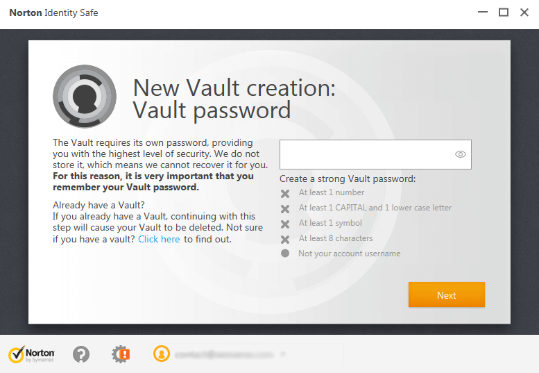 vault-creation-password