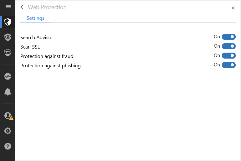 web-protection-settings