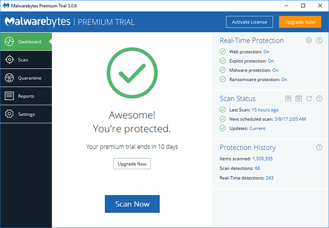 malwarebytes-main-screen