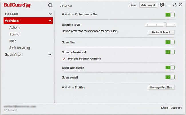antivirus-module-settings
