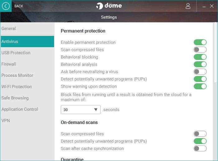antivirus-settings